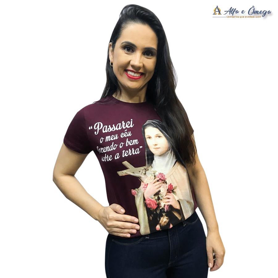 Camiseta Cristã - Santa Teresinha do Menino Jesus - Cópia (1)