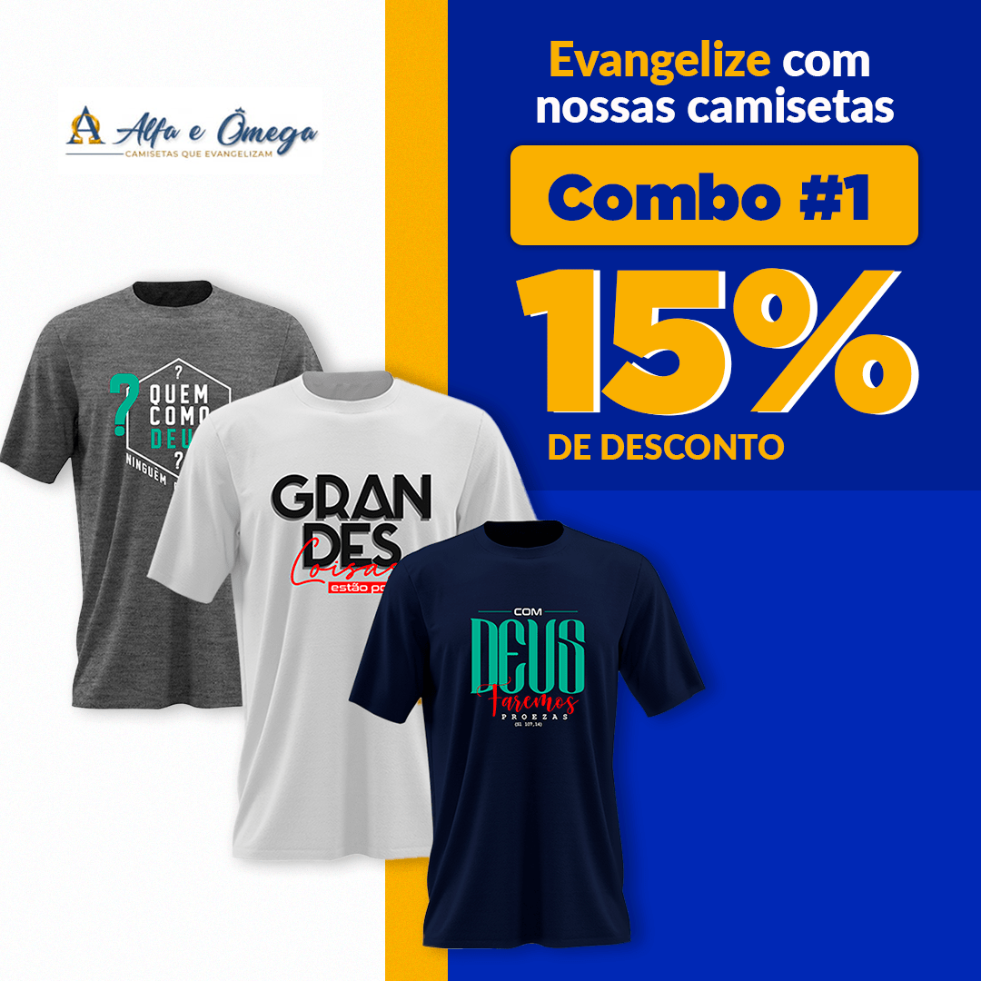 Combo #1 camisetas CRISTÃS
