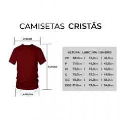 CAMISETA CRISTÃ  LISA  - MESCLA