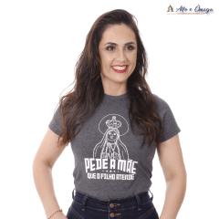 Camisetas Cristãs Nossa Senhora PEDE A MÃE