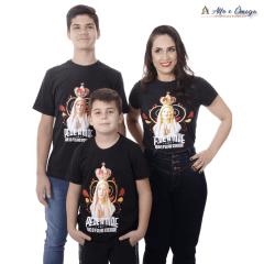 """Kit Evangelização 2 Camisetas Cristãs """"Oração e Maria Colorida"""""""