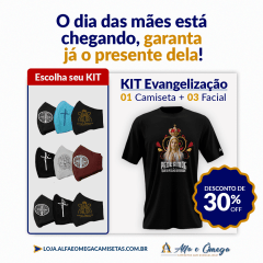 KIT'S CAMISETAS  N. S. COLORIDA + KIT 3 PEÇAS