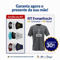 """KIT 1 CAMISETAS """"PEDE A MÃE QUE O FILHO ATENDE"""" + KIT 5 PEÇAS"""