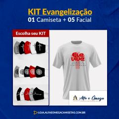 "KIT'S 1 CAMISETAS ""ELE VIVE"" + KIT 5 PEÇAS"
