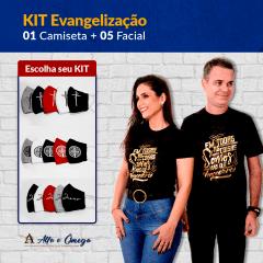 "KIT'S 1 CAMISETAS ""EM TODAS AS COISAS"" + KIT 5 PEÇAS"