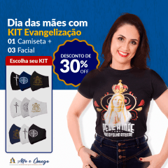 "KIT'S 1 CAMISETAS ""N.SENHORA COLORIDA"" + KIT 3 PEÇAS"